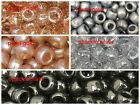 50 PONY BEADS 9 X 6mm  SPARKLE GOLD SILVER CLEAR LOOM BANDS variations