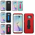 For Samsung Galaxy S6 Edge Symbiosis Stand Hybrid Hard Soft Case Skin Cover