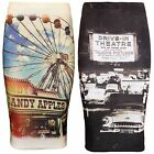 LADIES WOMENS PENCIL SKIRT MIDI BODYCON TUBE PRINTED CANDY APPLE DRIVEIN THEATRE