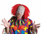 Scary Clown Mask With Wig Sleeve Mask FREE USA SHIPPING 39330