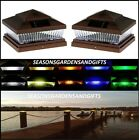 Solar Post Cap Deck Fence Color LED Lights 5x5 or 6x6 Copper Colored 8 Pack