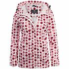 LADIES 100% WATERPROOF BREATHABLE JACKET pink spot dotty windproof kagool S-XXL