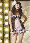 Living Dead S Lace Babydoll Teddy & Thong Pinup Rockabilly Burlesque Goth Punk M