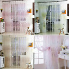 Wintersweet Tree Floral Sheer Voile Window Curtain Tulle Panel Drape Divider