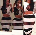 Women Sexy Bodycon Cocktail Bandage Dress Clubwear Party Black White Clothes