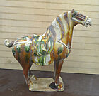 """Tang San Cai Horse Chinese Porcelain Statue Figure 15""""h X 15""""w"""
