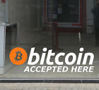 Bitcoin Accepted Here Vinyl Shop Window Sign Decal Sticker Cryptocurrency MEDIUM