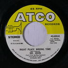 DR. JOHN: Right Place Wrong Time / I Been Hoodood 45 (w/ company sleeve) Funk