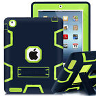 Shockproof Heavy Duty Rubber With Hard Stand Case Cover For iPad Air 2 iPad Mini