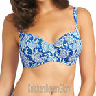 Fantasie Swimwear Kashmir Balcony Bikini Top Windsor Blue 5742 NEW Select Size