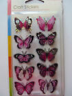 3D Butterfly's  10 in a pack - 5 colours