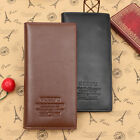 Bifold Wallet Men's Long Leather Business Credit ID Card Holder Slim Purse Gift