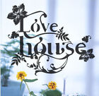 Schmetterling Blume Spruch home Wand Sticker / Wand Sticker