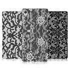 HEAD CASE DESIGNS BLACK LACE HARD BACK CASE FOR SONY XPERIA Z3 PLUS
