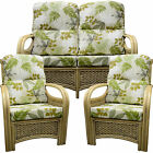 SUITE Cane Furniture New Replacement Cushions/Covers Conservatory wicker Gilda
