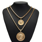 Fashion Jewelry Men's & Women's Yellow Gold Filled Medusa Head Long Necklace Hot