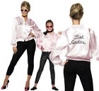 Grease Pink Ladies Jacket Fancy Dress Costume Official Licenced Outfit New