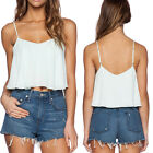May&Maya Women's Adjustable Spaghetti Strap Pullover Cropped Tank Cami Tee Top