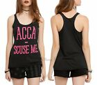 New Pitch Perfect 2 Acca-'Scuse Me Tank Top Racer Back Shirt Juniors S-XL