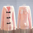 Hot sale Women Cute Hoodies Casual Coat  Bunny Rabbit Ears Jacket USWB