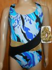 Gold Foil Blues Print Tank Leotard Axis Gymnastics Lycra over 20 available NWT