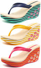 Ipanema Brasil Flora 2015 Womens Beach Wedge Flip Flops ALL SIZES AND COLOURS
