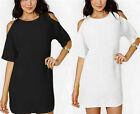 New Womens Casual Loose Chiffon T-Shirt Tops Short Sleeve Dress Blouse Cocktail