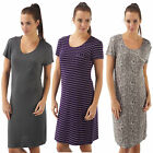 Ladies Women Nightdress Nightie Short Sleeve Nightshirt Nightwear maternity