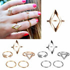 1 Set 5pc Fashion Luck Geometry Mid Midi Above Stack Knuckle Finger Ring Rings