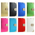 Luxury Magnetic Flip Cover Stand Wallet Leather Case For Samsung Galaxy S4 S5