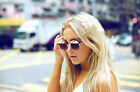 Party Style Sunglass with Brim Mirror Lens Sunnies Round Retro Vintage Round