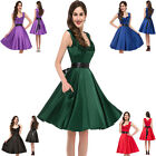 VINTAGE 1950's ROCKABILLY PINUP SWING SHORT BRIDESMAID FULL CIRCLE EVENING DRESS