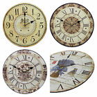 Shabby Chic Large 34cm Thin Rustic Wall Clock Classical