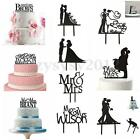 Acrylic Mr & Mrs Wedding Cake Topper Bride & Groom Party Favors Decor