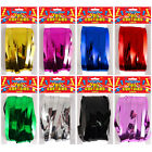 FOIL DOOR CURTAINS TINSEL SHIMMER PARTY DECORATIONS COLOURS NEW