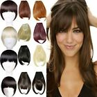 Ladies Women Young One Piece Neat Bangs Clip in Hair Extensions 2 Clips fo