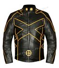Hugh Jackman Wolverine X Men Days of Future Motorbike Genuine Leather Jacket