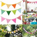 9ft  Dots Floral Plaid Birthday Party Pennant Flag Banner Bunting Decoration