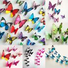 Hot 12PCS Multi-Color DIY 3D Butterfly Wall Sticker Home Wedding Decor Room Art