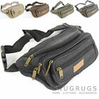 Ladies / Womens / Mens Canvas Travel / Holiday / Money Bumbag / Waist Bag