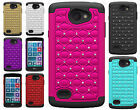 For LG Lancet HYBRID IMPACT Hard Dazzling Diamond Case Phone Cover +Screen Guard