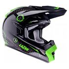 LAZER MX8 CARBON TECH LIGHTWEIGHT MOTOCROSS MX OFFROAD HELMET CARBON BLACK GREEN
