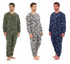 Mens Camo Soft Fleece Onesie / Jumpsuit / Pyjamas / Sleepsuit / Babygrow