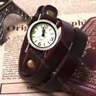 Fashion Women Men Retro Leather Long Band Analog Quartz Sport Wrist Watch