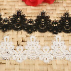 1/2 Yard Embroidered Net Lace Trim Applique Ribbon Wedding Bridal Sewing Craft
