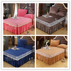 New King/Queen/SK Size Pleated Valance Bed Skirt Set 6 Designs Polyester Fiber