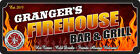 Firefighter Bar & Grill Personalized Sign Pub Wall Art Plaque Home Decor C1307