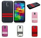 FAUX LEATHER TPU SILICONE RUBBER SKIN COVER CASE For Samsung Galaxy S5 ORIGINAL
