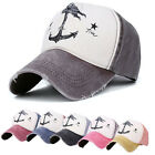 Men Women Anchor Baseball Hip Hop Cap Flat Peak Outdoor Snapback Hat Adjustable