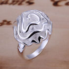 Beautiful Fashion Women 925 Sterling Silver Rose Flower Ring Womens Jewelry A011